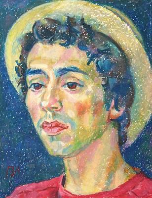 Portrait Painting - Gabriel Alban-zapata by Leonid Petrushin