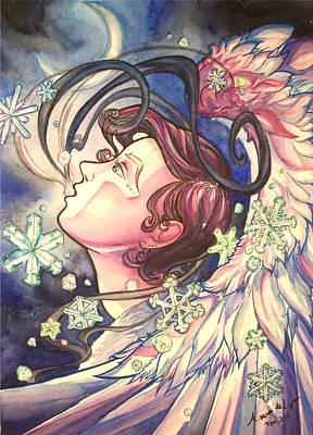 Arwen Painting - Gabriel Closeup by Arwen De Lyon