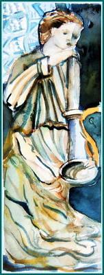 Revelation Drawing - Gabriel by Mindy Newman