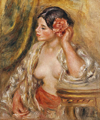 Table Cloth Painting - Gabrielle A Sa Coiffure by Pierre Auguste Renoir