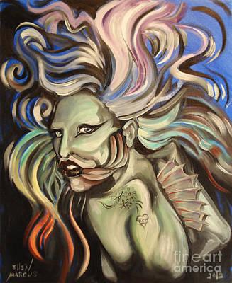 Gaga Painting - Gaga Fish by Ellen Marcus