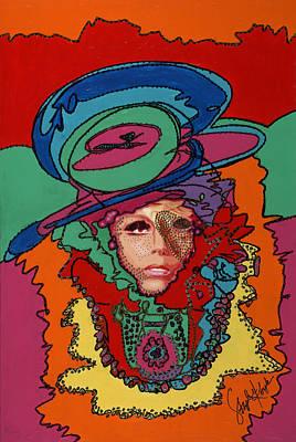 Lady Gaga Painting - Gaga To The Max by Stapler-Kozek