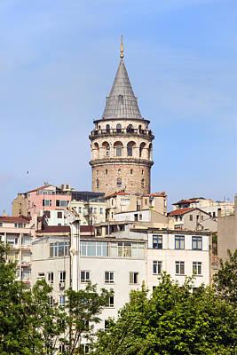 Galata Tower In Istanbul Print by Artur Bogacki
