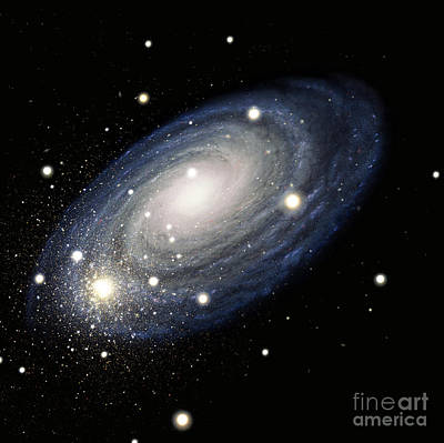 Astronomical Art Drawing - Galaxy by Atlas Photo Bank and Photo Researchers