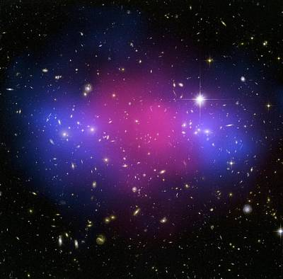 Galaxy Cluster Collision, X-ray Image Print by Nasaesacxcstscim. Bradac And S. Allen