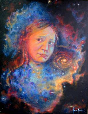 Galaxy Girl Print by Karen Roncari