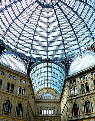 Naples Photograph - Galeria Umberto's Dome by Carla Parris