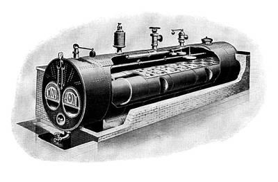 Technical Photograph - Galloway Steam Boiler by Mark Sykes