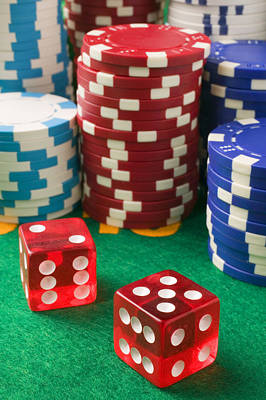 Gambling Dice Print by Garry Gay