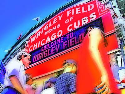 Wrigley Field Digital Art - Game Day One by Brian Gregory