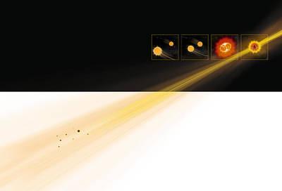 Gamma Ray Burst Formation Print by Claus Lunau