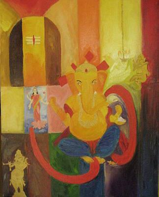 Vinayaka Painting - Ganesha by Gnana Prakash Neel