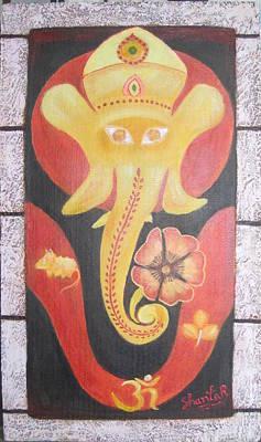 Painting - Ganesha by Shanta Rathie