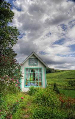 Sbatdorf Digital Art - Garden Cottage by Sharon Batdorf
