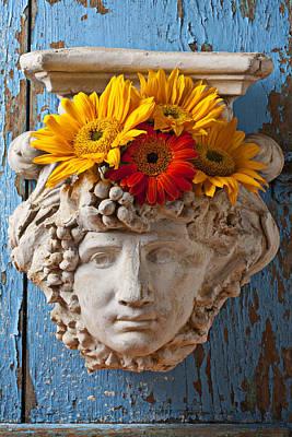 Sunflowers Photograph - Garden Face by Garry Gay