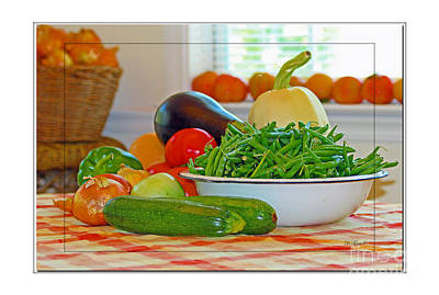 Bellpeppers Photograph - Garden Fresh by Diana  Tyson
