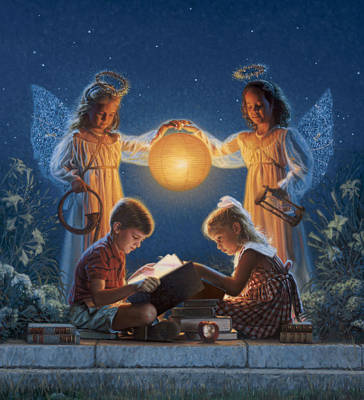 Innocent Angels Digital Art - Garden Of Light by Frank Morris