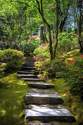 Granger Photograph - Garden Path by Brad Granger