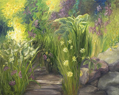 Painting - Garden Path by John and Lisa Strazza