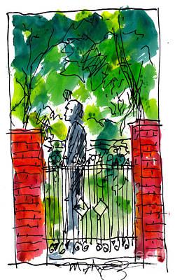 Garden Philadelphia Print by Marilyn MacGregor