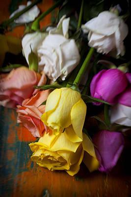 Garden Roses Print by Garry Gay