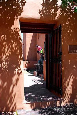 Pueblo Architecture Photograph - Garden Sculptures Museum Of Art In Santa Fe Nm by Susanne Van Hulst