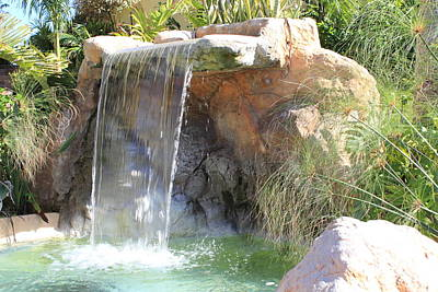Flowers Photograph - Garden Waterfall by Shane Bechler