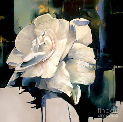 Gardenia Print by Lin Petershagen