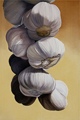 Garlic Painting - Garlic Still Life by Matthew Bates