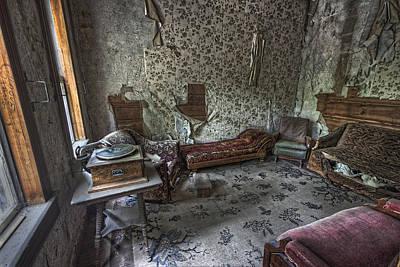 Garnet Ghost Town Hotel Parlor - Montana Print by Daniel Hagerman