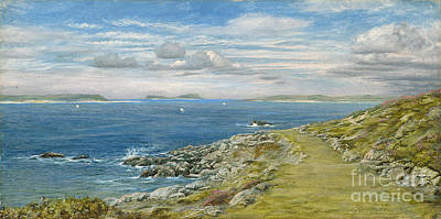 Deep Blue Painting - Garrison Walk by John Brett