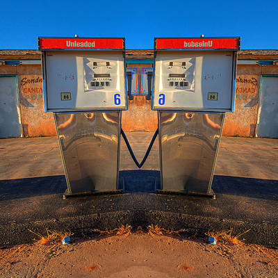 Gas Pump Sweethearts Print by Peter Tellone