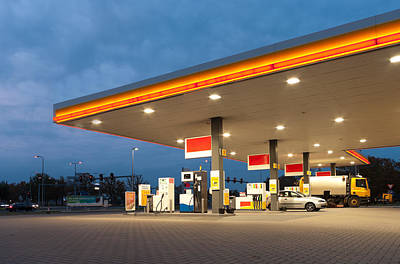 Premium Gas Photograph - Gas Station by Hans Engbers