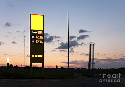 Gas Station Sign Print by Jaak Nilson