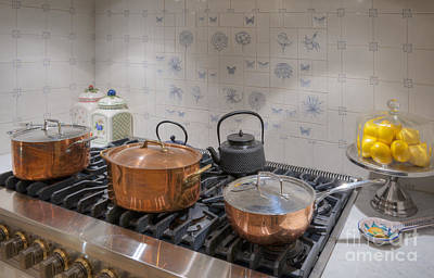 Ceramic Sinks Photograph - Gas Stove And Copper Pots by Noam Armonn