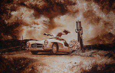 Gasoline Print by Mario Pichler
