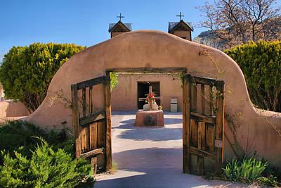 Adobe Church Photograph - Gate To Santuario De Chimayo by Steven Ainsworth