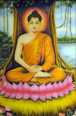 Gautama Buddha Print by Created by handicap artists