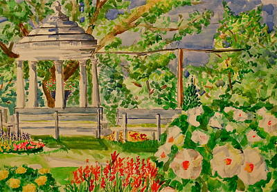 Mississippi River Painting - Gazebo by Jame Hayes