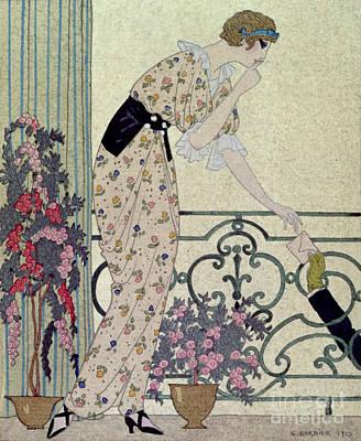 Admirer Painting - Gazette Du Bon Ton by Georges Barbier