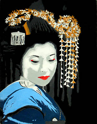 Asian Pop Culture Painting - Geisha by Timothy Eakin