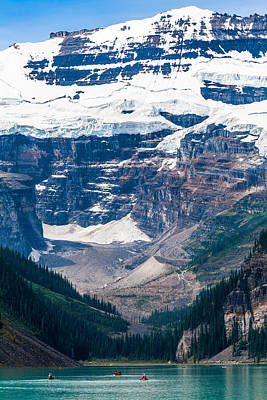 Gem Of The Canadian Rockies Lake Louise Print by Tommy Farnsworth