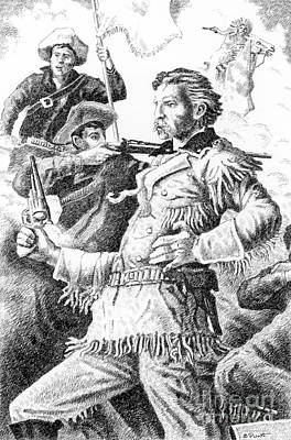 General Custer's Last Stand Print by Gordon Punt