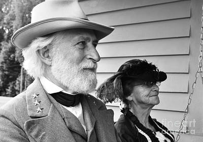 Civil War Battle Site Photograph - General Lee And Mary Custis Lee by Thomas R Fletcher