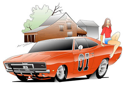 General Lee Digital Print by Lyle Brown