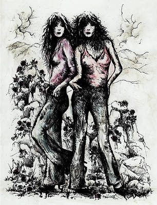 Genes And Roses Print by Rachel Christine Nowicki