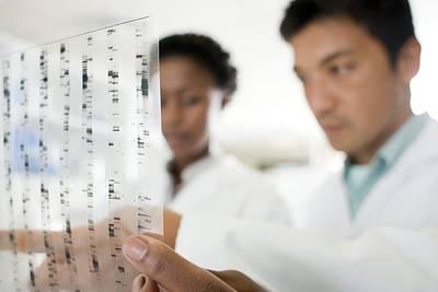 Genetics Research Print by