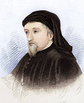 Fourteenth Photograph - Geoffrey Chaucer, English Author by Sheila Terry