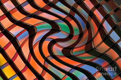 Geometrical Colors And Shapes 2 Print by Kaye Menner