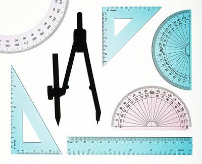Technical Photograph - Geometry Set by Lawrence Lawry